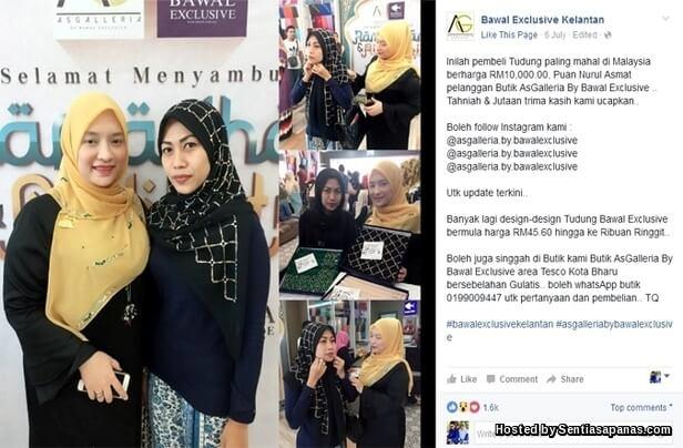 Tudung Bawal Exclusive Berharga RM10,000