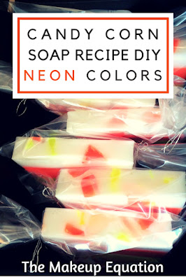 Candy Corn Soap Recipe DIY Neon Colors