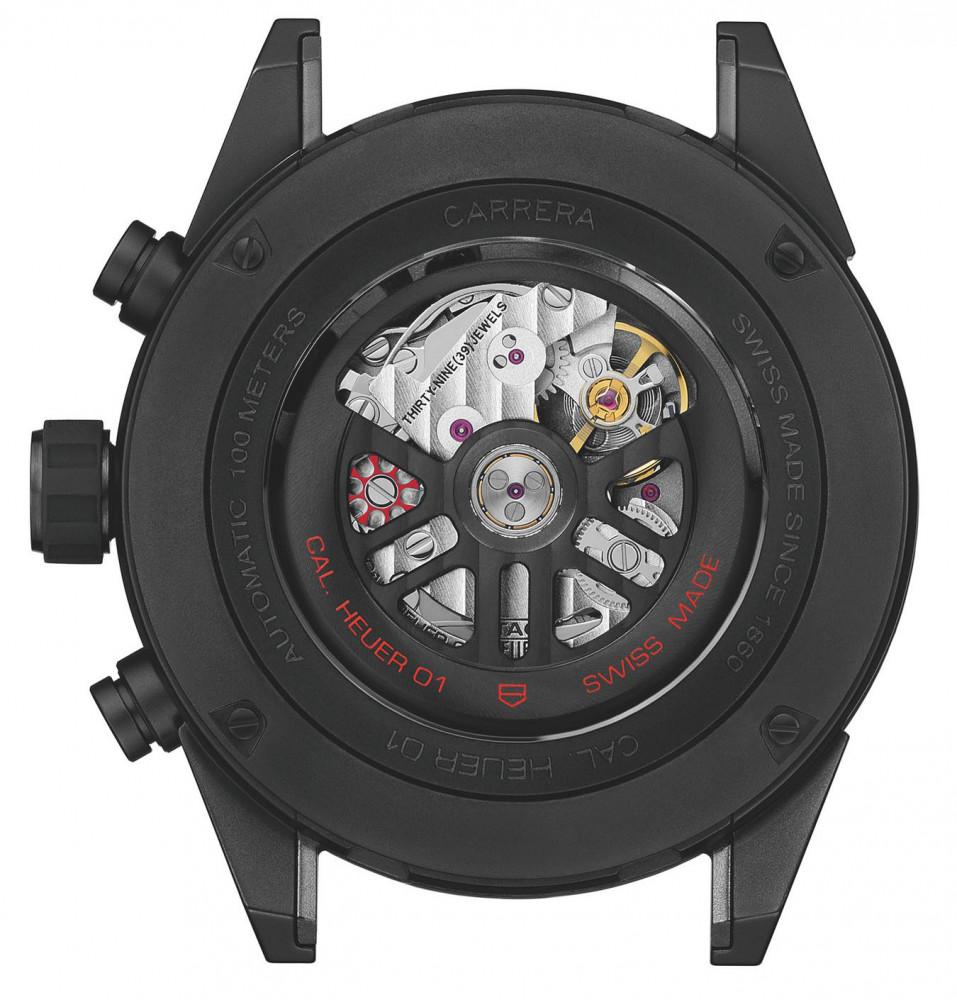 719f4216c En el fondo de la caja, la rueda de la columna roja y los puentes de  cronógrafo ennegrecidos capturan la atención del admirador.