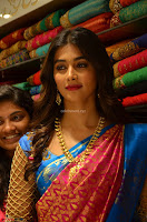 Puja Hegde looks stunning in Red saree at launch of Anutex shopping mall ~ Celebrities Galleries 043.JPG