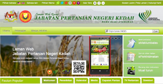 Rasmi - Jawatan Kosong (Pertanian Kedah) Jabatan Pertanian Kedah Terkini 2019
