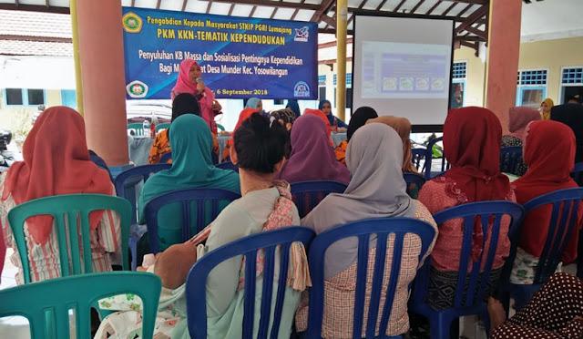 Penyuluhan KB dan Sosialisasi Pentingnya Kependidikan Bagi Masyarakat di Desa Munder