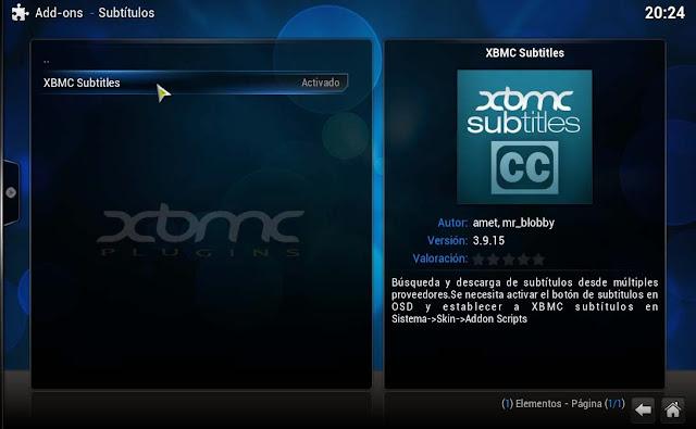 XBMC SUBTITLES PLUGIN