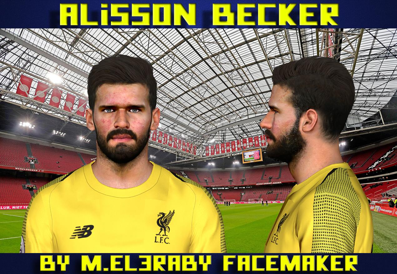 PES 2017 Alisson Becker Face by M.Elaraby Facemaker