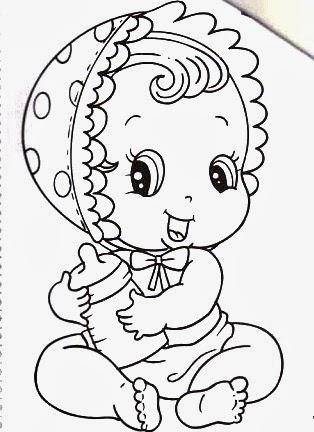 Desenhos De Meninas Bebes Para Pintar Em Fraldas