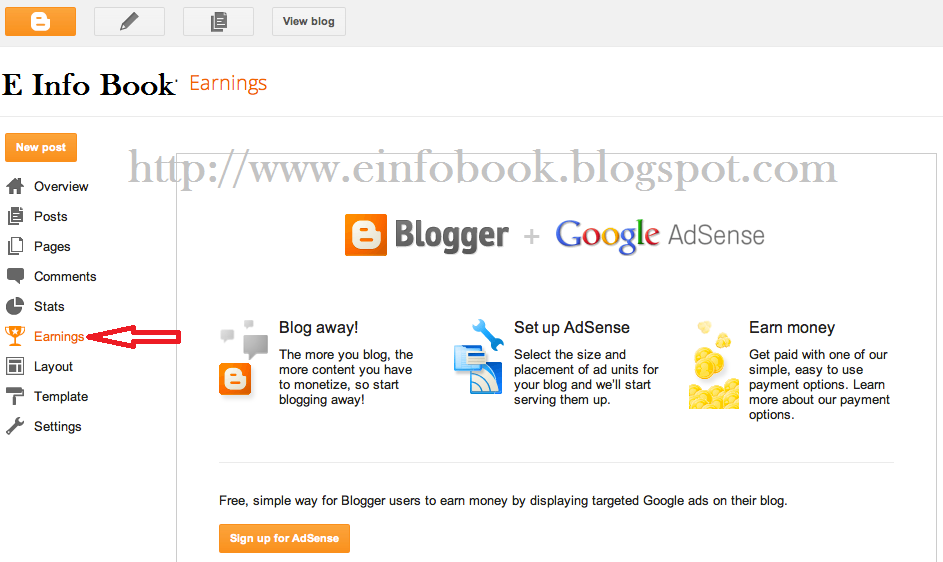Apply for Adsense with Blogger blog
