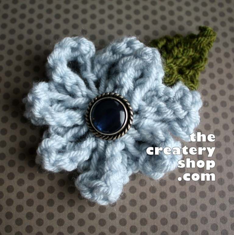 3570be18918 The Createry Shop  Easy Elegant Flower To Knit (Not Crochet!) - Free ...