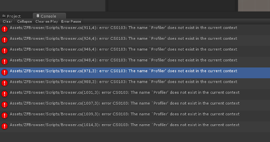 The name `Profiler' does not exist in the current context [Solved]