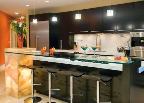 Desain Lampu Dapur Minimalis Dengan Cahaya Sedikit Redup