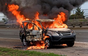 SUV Gets Burnt to Ashes in Oshodi Lagos State