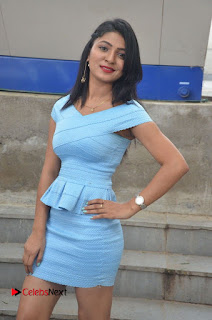 Actress Ankitha Jadhav Pictures in Blue Short Dress at Cottage Craft Mela 0006.jpg
