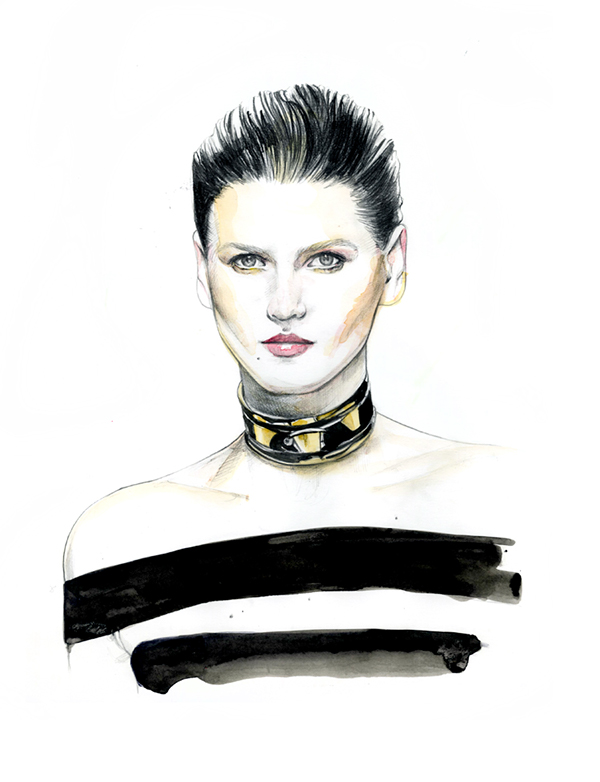 15-Caroline-Andrieu-Fashion-Shows-Distilled-into-Drawing-Portraits-www-designstack-co