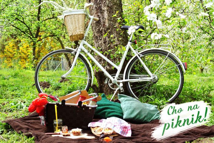 kocyk, jedzenie, piknik