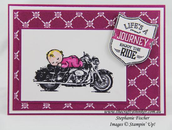 Baby Card, One Wild Ride, Moon Baby, #thecraftythinker, stampin up Australia Demonstrator, Stephanie Fischer, Sydney NSW