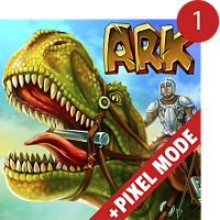 Tải The Ark of Craft Dinosaur Survival Pixel Mode Hack Full Tiền Vàng Cho Android