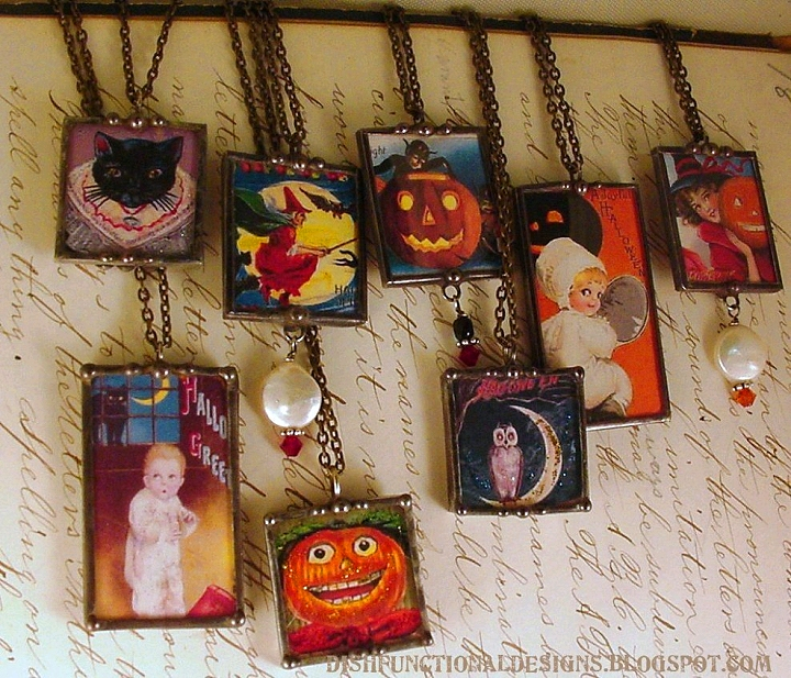 Antique Postcard Jewelry by Laura Beth Love
