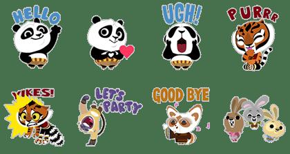 LINE Stickers Kung Fu Panda Kawaii - Free Pack Free Download