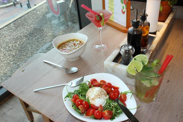 menu d'été, vapiano, les petites bulles de ma vie