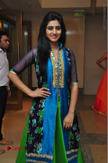 Actress Model Shamili Sounderajan Pos in Desginer Long Dress at Khwaaish Designer Exhibition Curtain Raiser  0038.JPG