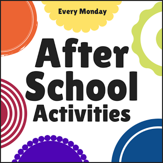 After School Linky Party featuring activities for kids at home after school