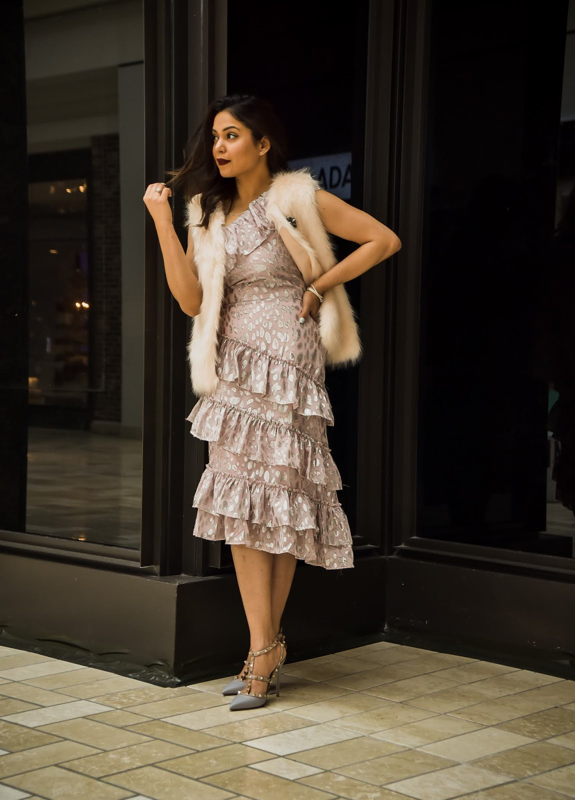 valentines day, lover and friends pick ruffle dress, pandora jewelry, fashion, tysons ciorner mall, dc blogger, saumya shiohare, myriad musings