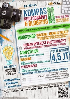 Kompas Workshop & Competition, Blogging & Fotografi