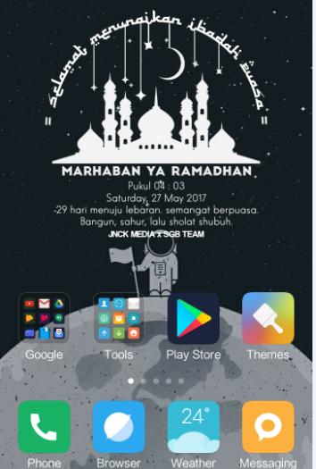 Membuat Widget Homescreen Spesial Ramadhan Untuk Android