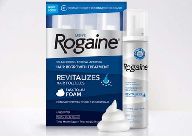 Rogaine Foam Minoxidil 5% Penumbuh Rambut Untuk Kebotakan Pria