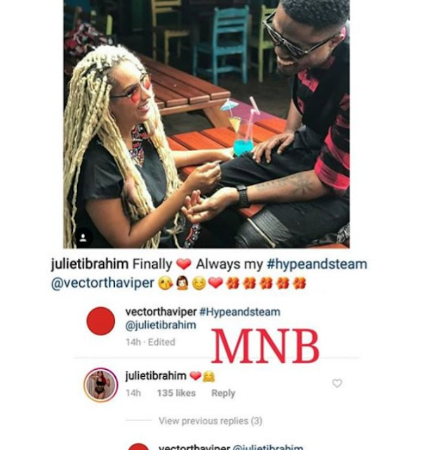 Actress Juliet Ibrahim Got Soft Spots For Rappers as She and Vector Sparks Dating Rumour in New Romantic Posts