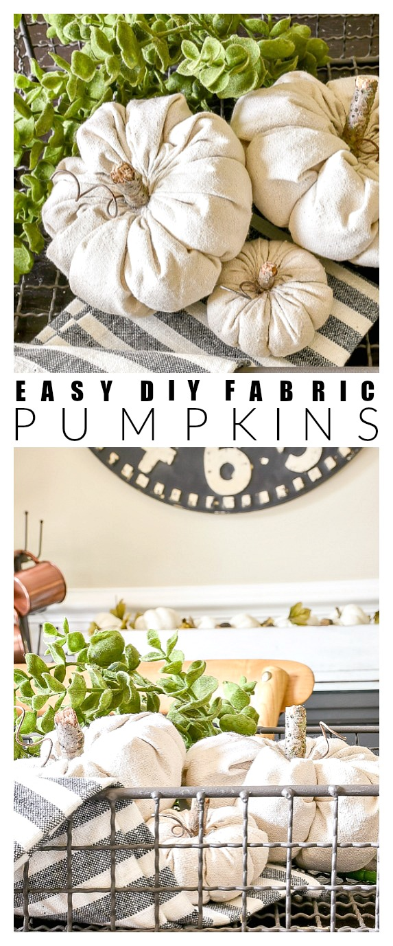 How to make easy DIY fabric pumpkins