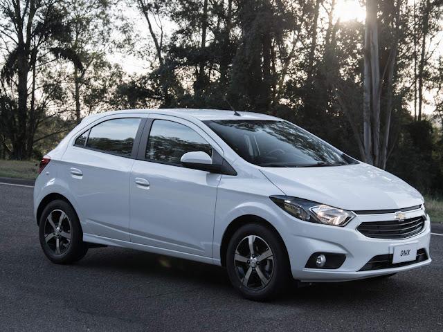 Chevrolet Onix - carro mais vendido do Brasil em 2018