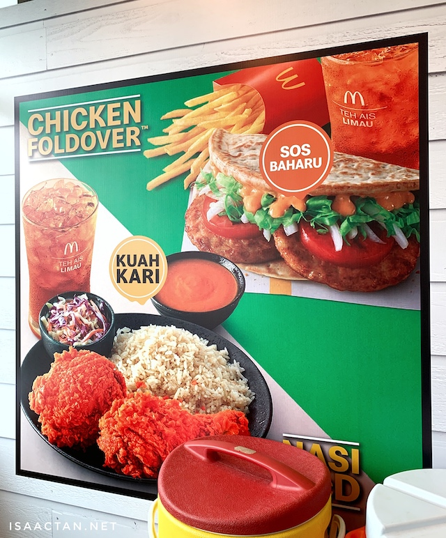 Nasi McD and the Chicken Foldover