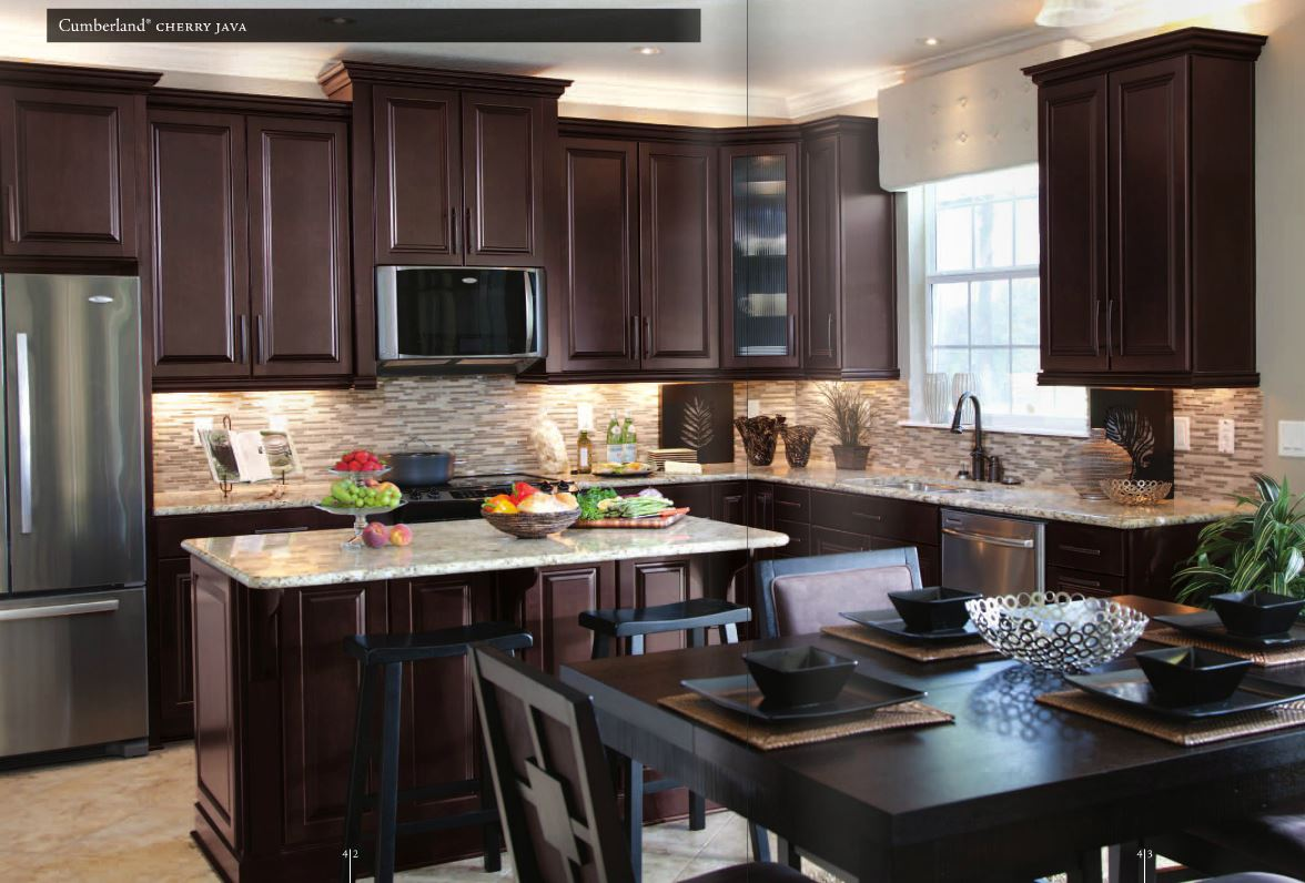 Santa Cecilia Granite with Cherry Cabinets