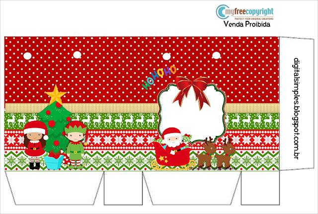 Tierno Santa Claus: Mini Kit para Imprimir Gratis.