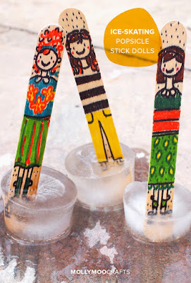 ice skating popsicle stick craft