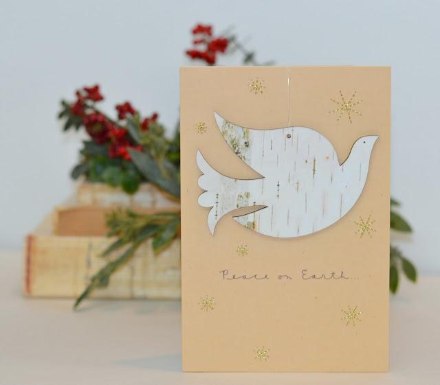 peace on earth, card ornament