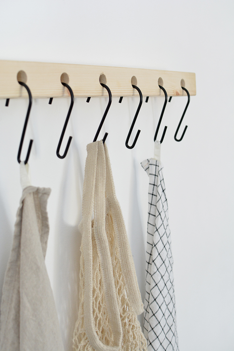 modern hook shelf DIY