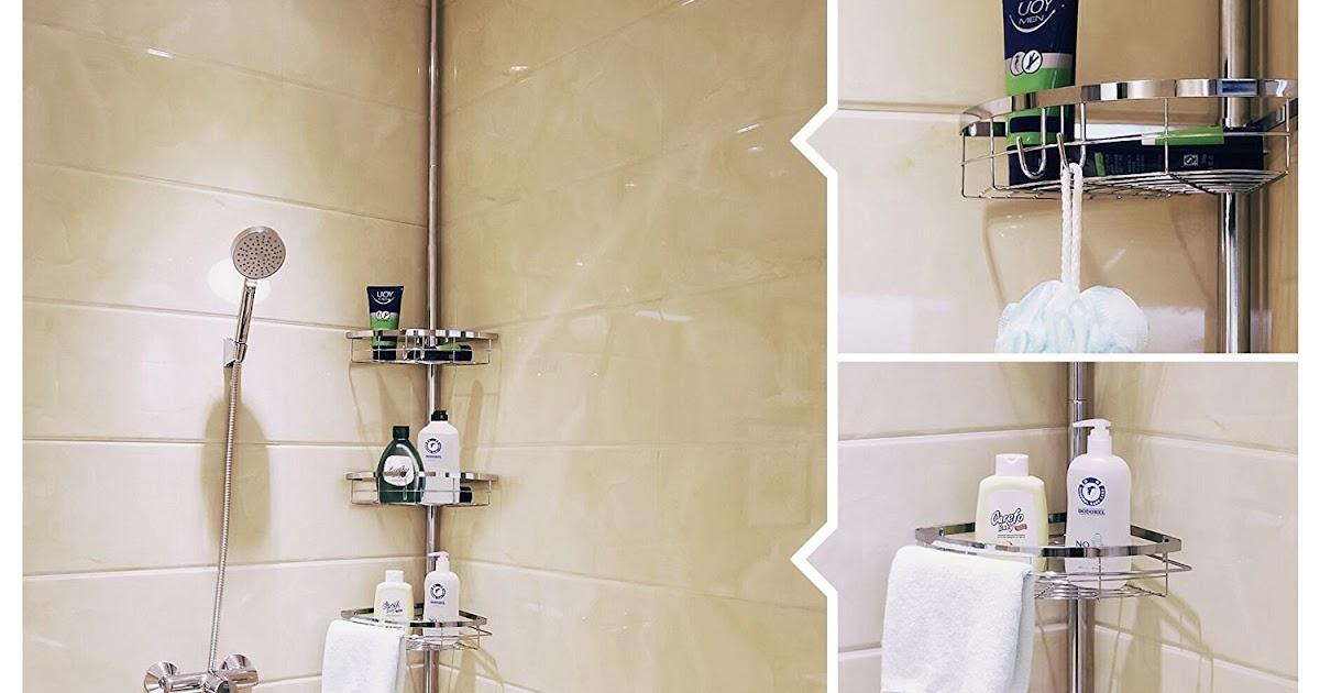 Lifewit estante de ba o rinconera estanter a ducha ajustable con palo cesta 42 99 57 de - Estanterias de rinconera ...