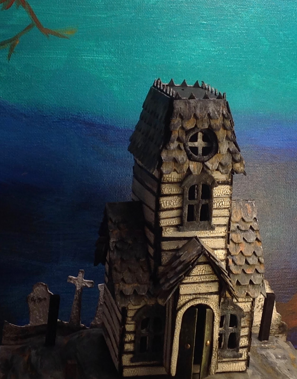 with glue and glitter : haunted manor for the holtzville village - a