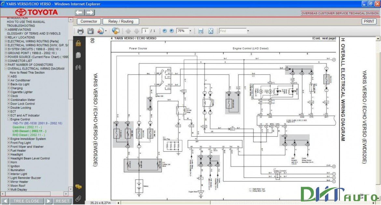 Toyota Yaris Verso Echo Verso Service Amp Repair Manual border=