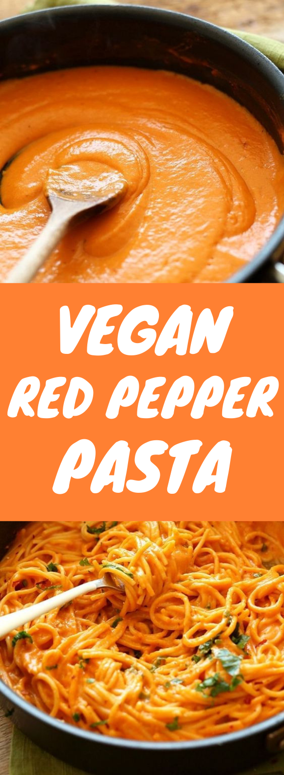 VEGAN ROASTED RED PEPPER PASTA (GF) #Vegan #Pasta