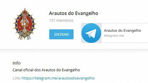 Arautos no telegram