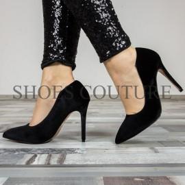 Pantofi Stiletto Black Velvet
