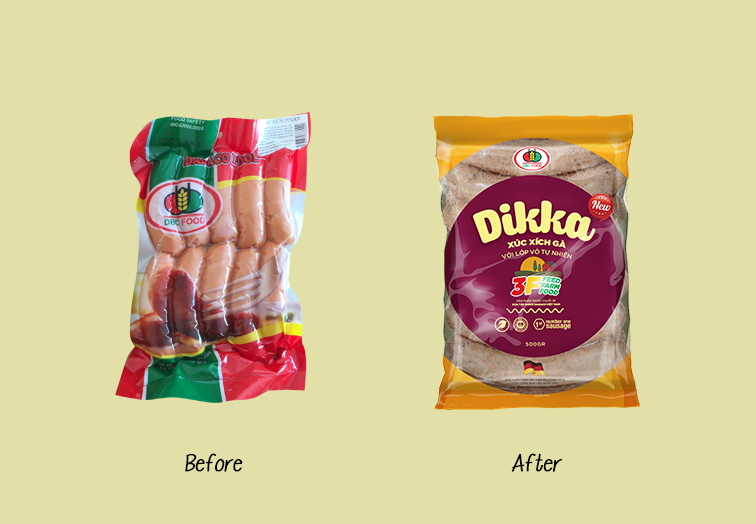 dabaco food sausage redesigned on packaging of the world