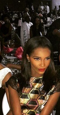 Former miss world Agbani Darego looked absolutely stunning in a Lanre DaSilva metallic maxi dress