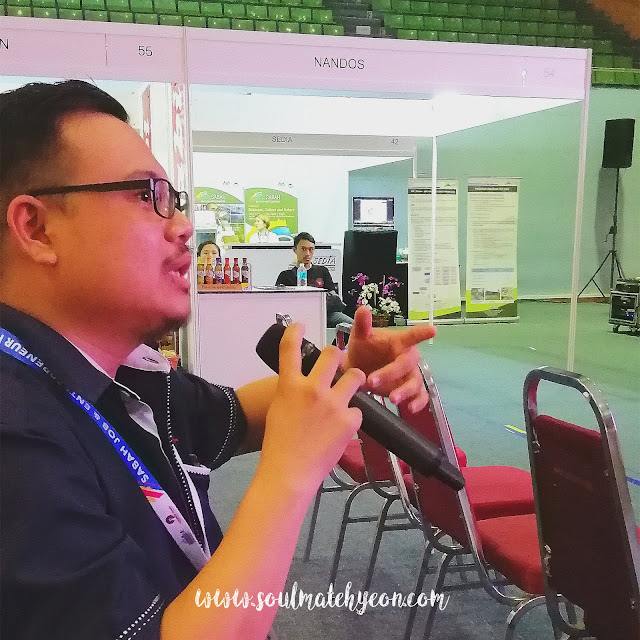 Q&A session; ASabah Job & Entrepreneur Fair 2018 @ Kompleks Sukan Kota Kinabalu (Likas)