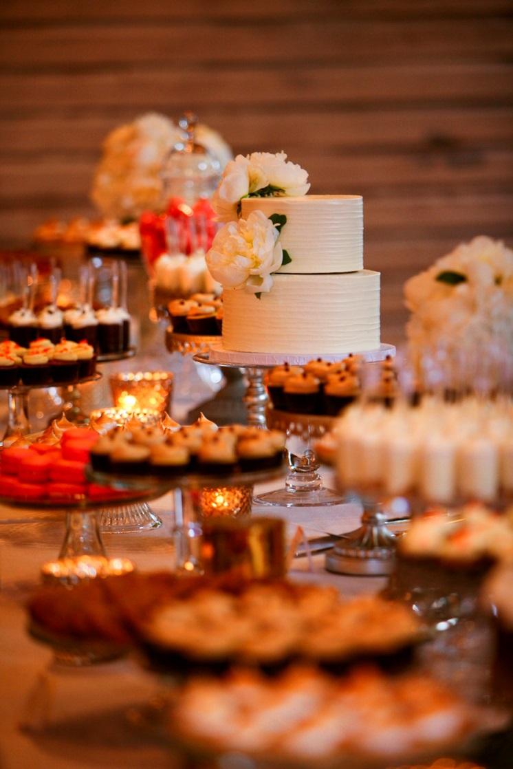 Cocoa Amp Fig Mixed Metallic Wedding Dessert Table
