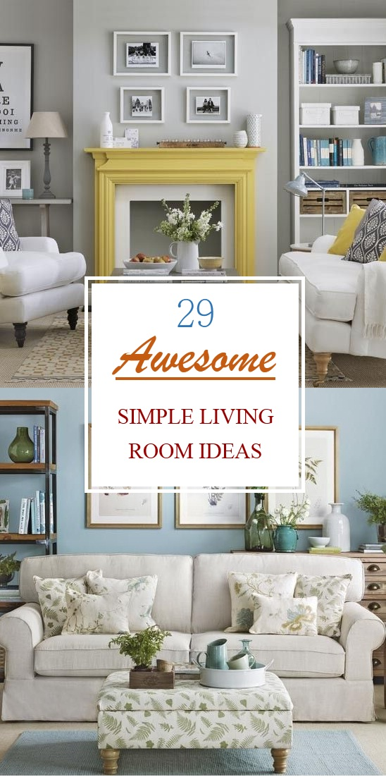 29 awesome simple living room ideas - Simple Living Room