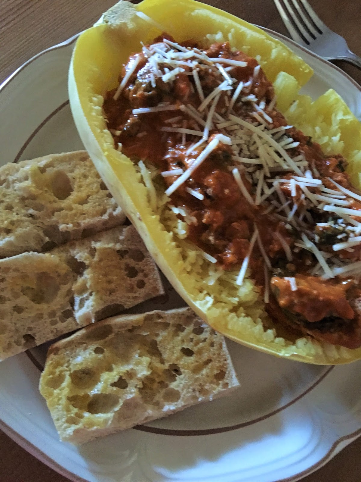 Yaudy's Style: Spaghetti Squash and Turkey Meatballs in ...