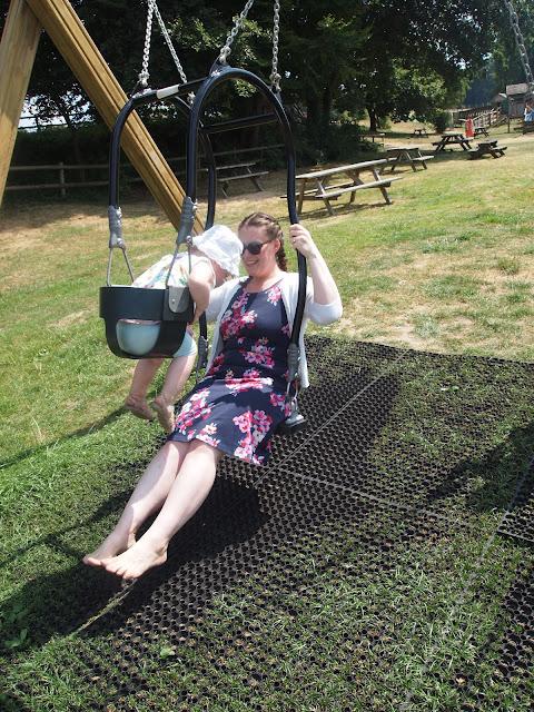 Godstone Farm, Surrey Review - Outdoor Play Area - Double swing